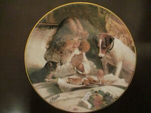 Pears Victorian Paintings collectible plate Suspense by Charles Burton Barber $15.00
