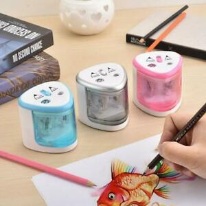 Automatic Two-hole Electric Touch Switch Pencil Sharpener Home School Office