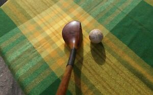 Antique Hickory Wood Shaft Golf Club SPLICE NECK PLAY CLUB WILLIE DUNN  'LH'
