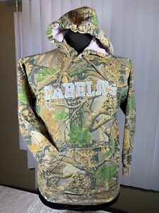 Cabelas Hunting Seclusion 3D Camo Hoodie Embroiled Sweatshirt Men's Size Medium