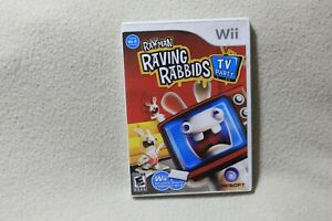 RAYMAN RAVING RABBIDS TV PARTY (NINTENDO Wii 2008) WITH INSTRUCTION BOOKLET