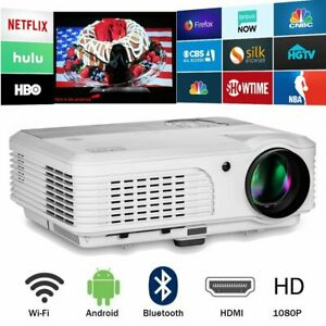 HD 4200LM Android Wifi Bluetooth LCD LED Projector Home Theater for Youtube HDMI