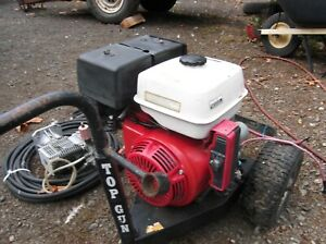 Honda GX390 13hp Electric Start Engines (2) with 4000 lb pressure washer parts