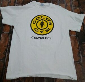 GOLDS GYM BRAND Culver City MENS COTTON T SHIRT SIZE MEDIUM M COOL Logo $14.95