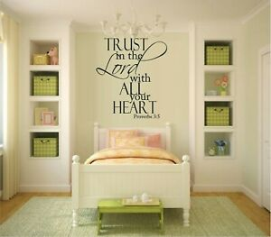 Trust In The Lord ...Heart Proverbs 3:5 Decal Sticker Home Decor Family
