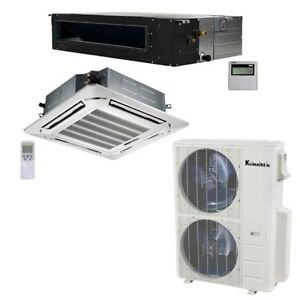 Klimaire 40K BTU 2 Zone 24K Ceiling 24K Ducted AC Heat Mini Split 15 Kits