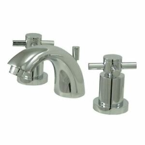 Elements of Design Chrome Concord Cross Handle Mini Widespread Lavatory Faucet
