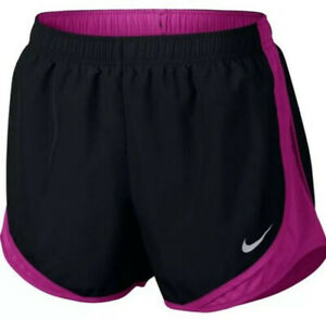 New Nike Women's Dri-FIT Tempo Running Shorts Black Medium