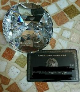 American Express Centurion Black card holders Limited Crystal Glass paperweight