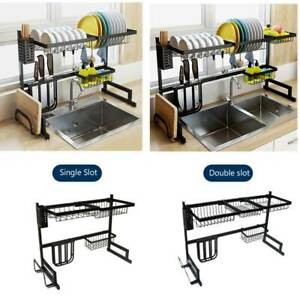 Kitchen Shelf Rack Drying Drain Storage Holders Plate Dish Stainless Steel - USA