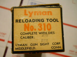 Lyman 310 Reloading Tool 218 Bee Complete Kit in Box