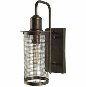 The Bodin Wall Contemporary Sconce Modern Mesh Weaved Metal Shade $108.90