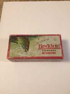 Vintage Lure Heddon Dowagiac  Basser  Lure Box Only - Downward Leaping Bass !