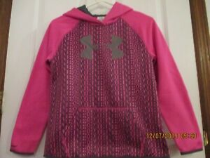 girls Under Armour size youth large cold gear hoodie