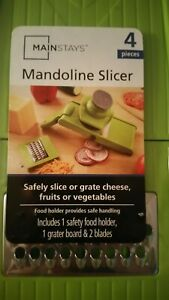 MAINSTAYS MANDOLINE SLICER Safely Slice, Grate, Cheese Fruits Vegetables
