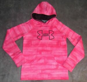 MINT Under Armour Storm Big Logo Pink Breast Cancer Loose Fit Hoodie Youth Girls