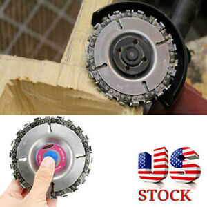 US STOCK 4'' Angle Grinder Disc 22 Tooth Chain Saw for Wood Carving Cutting Tool