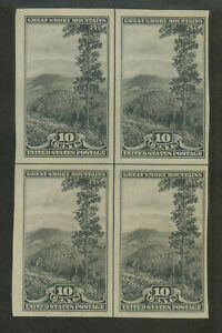 U.S. 765 Centerline Block of 4 Very Fine Unused