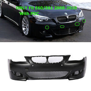 M5 Style Air Duct Type Front Bumper Cover W PDC For BMW 5 Series E60 E61 08-10