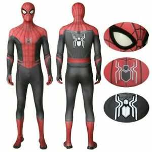 Spider Man Far From Home Peter Parker Spiderman Cosplay Costume for Men Kids $19.99