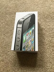 EMPTY BOX RETAIL GIFT PACKING FOR APPLE IPHONE 4S BLACK 16GB