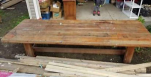 HUGE Oak Table Moody Bible Camp Dining - Kitchen - Farmhouse