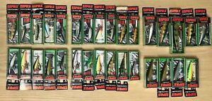 Vintage New Old Stock Rapala Countdown Fishing Lures Lot of 31 FREE SHIPPING!