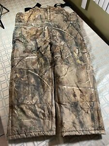 Walls Camouflage Real Tree Overalls Hunting Thinsulate Men's Size 2X Waist 46 48