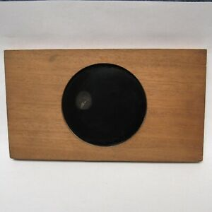 Glass Magic Lantern Dissolving Slide Wooden Frame Ulysses S. Grant Antique
