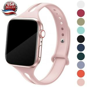 Soft Silicone Narrow Sport Band fits w Apple Watch Series 6 5 4 3 2 1 SE $7.85