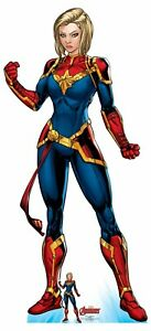 Captain Marvel Official Lifesize Marvel Avengers Cardboard Cutout with Free Mini GBP 37.29