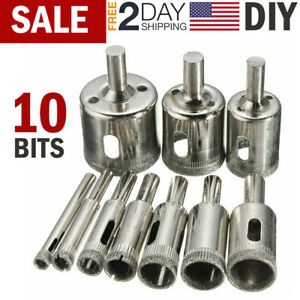 Diamond Hole Drill Bits Cutting Hole Maker Hollow Saw for Glass Tile Wood Marble