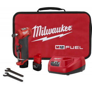 Milwaukee Electric Tool 2485 22 M12 Fuel™ Right Angle Die Grinder Kit Brand New $253.99