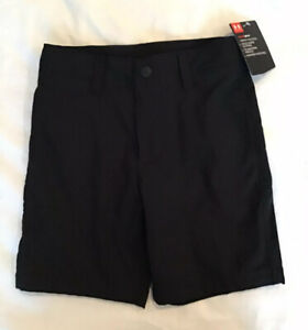 Under Armour Boys Youth Golf Casual Shorts Black Size 6 $29.99 NWT $19.99