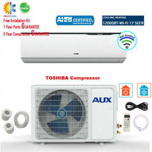 12000 BTU Ductless MINI Split Air Conditioner with Heat Pump WiFi 115V 17 SEER