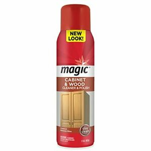Magic Wood Deep Cleaner and Polish - 17 Ounce - Heavy Use Wood Furniture Cabi...