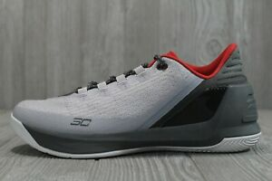 49 Under Armour Curry 3 Low Grey March Madness 1286376 289 Men's Shoes Size 10 $75.99