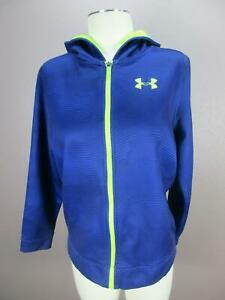 Under Armour Size XL Boys Youth Blue Full Zip Side Pocket Athletic Hoodie 147 $21.84