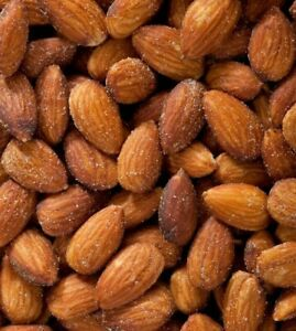 Fresh Roasted & Sea Salted California Almonds Almond Kernels USA Carmel Variety