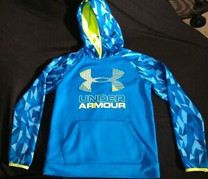 Under Armour Storm Hoodie Sweatshirt Sz Youth LARGE Blue Camo MINT CONDITION $14.95
