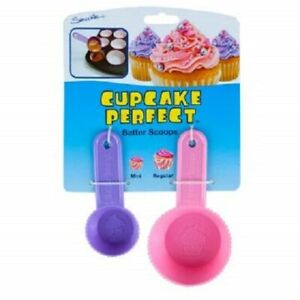 Batter Scoops 2 Pack Cupcake Perfect Mini & Regular Sized Batter Scoops (2 Pack)