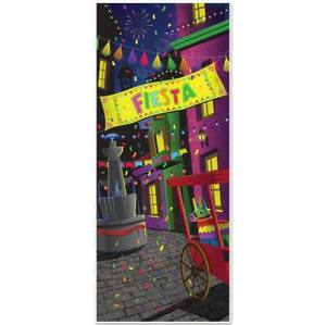 Fiesta Door Cover All Weather Indoor Outdoor Use 30quot; x 6#x27; Cinco De Mayo Decor