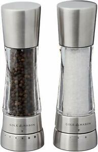 Cole  Mason H59408Gusa Derwent Salt  Pepper Mill And Grinder Set, Stainless St