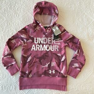 Under Armour Pink Camo Hoodie Cold Gear Loose Long Sleeve Girl's Youth Small NWT $24.99