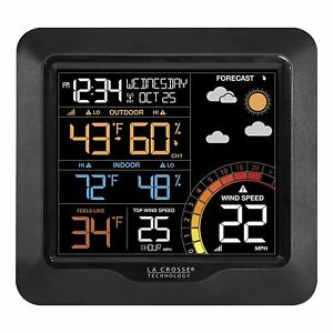 NEW LA CROSSE TECHNOLOGY 327 1417 WIRELESS WIND SPEED BLACK WEATHER STATION