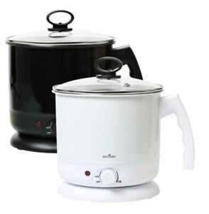 QS Electric Multi Cooking Pot Ramen Noodle Water Kettle Stainless Cooker 1.6L