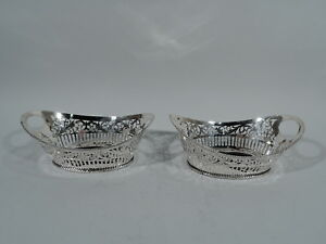 Antique Baskets Antique Edwardian Pair of Bowls American Sterling Silver $1015.00