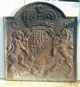 English Cast Iron Fireback By Thomas Elsley Rare Antique with Natural Patina  $3750.00