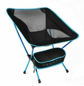 Ultralight Portable Casual Folding Backpacking Camping Chair with Storage Bags