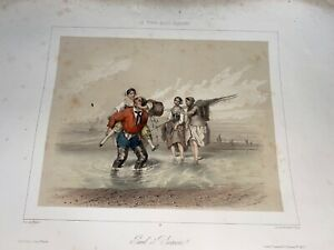 7 Original Vintage French Early 19th Century Romantic Lithographs $400.00